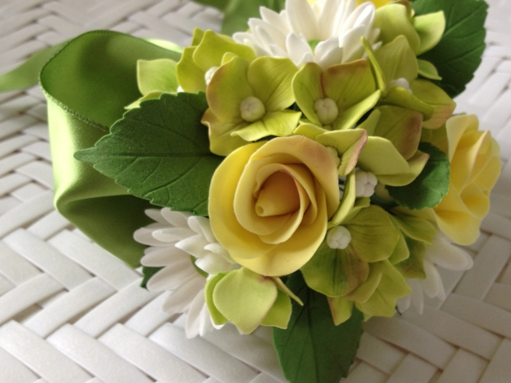 Gumpaste Flower Bouquet Cakecentral