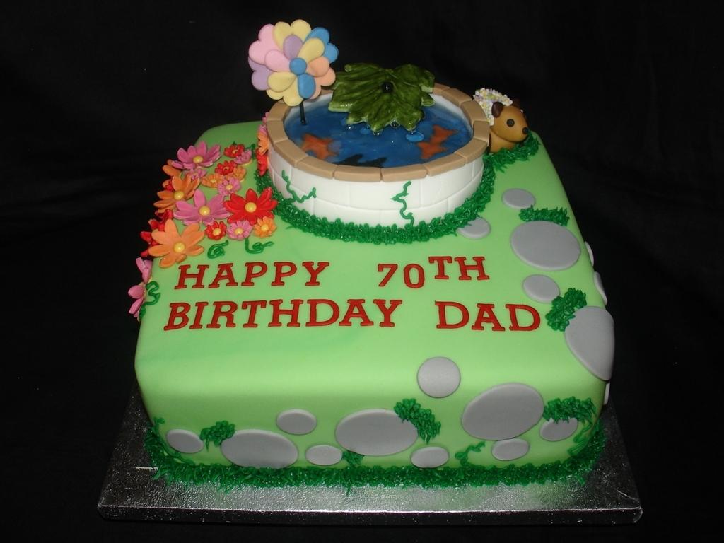 Fish Pond 70Th Birthday Cake