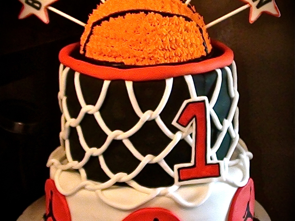 Basketball Themed First Birthday Party Basketball Is Smash Cake