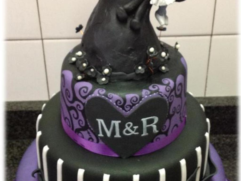 This Was A Wedding Cake For A Couple Who Wanted A Nightmare Before