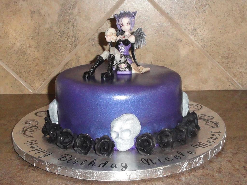 Gothic Fairy Birthday Cake Cakecentral