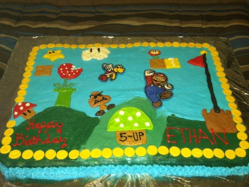 Super Mario Bros Birthday Cake Cakecentral