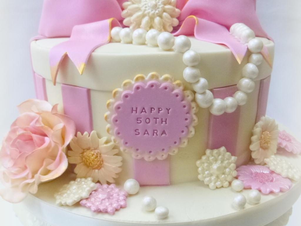 Pink And Girly 50th Birthday Cake X Cakecentral