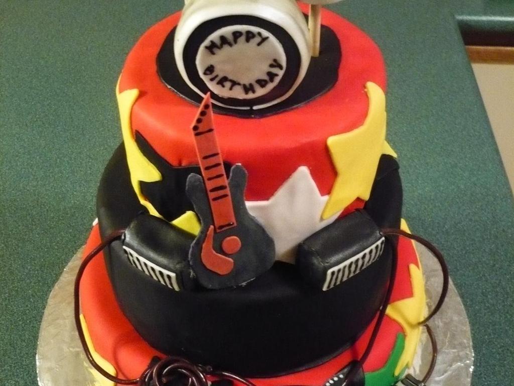 Pleasant Rockstar Birthday Cake Cakecentral Com Funny Birthday Cards Online Kookostrdamsfinfo