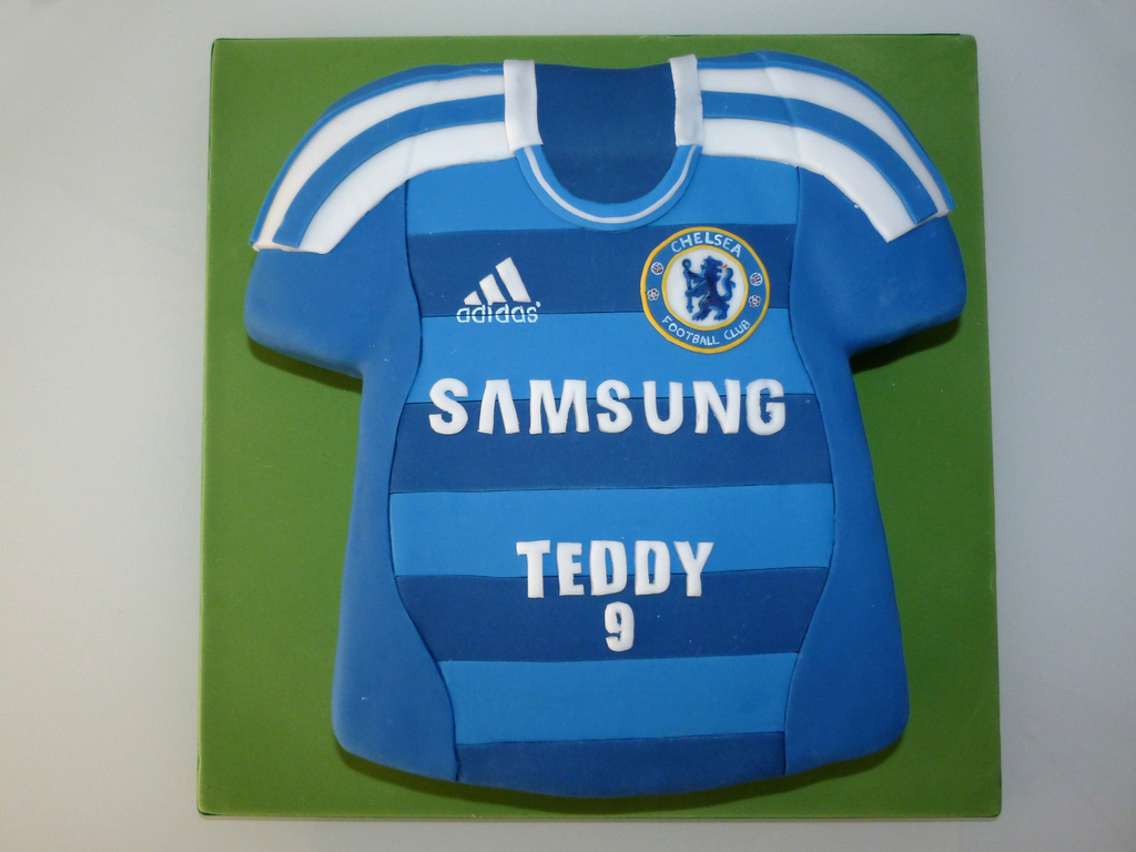 7b588428d Chelsea Football Shirt Cake - CakeCentral.com