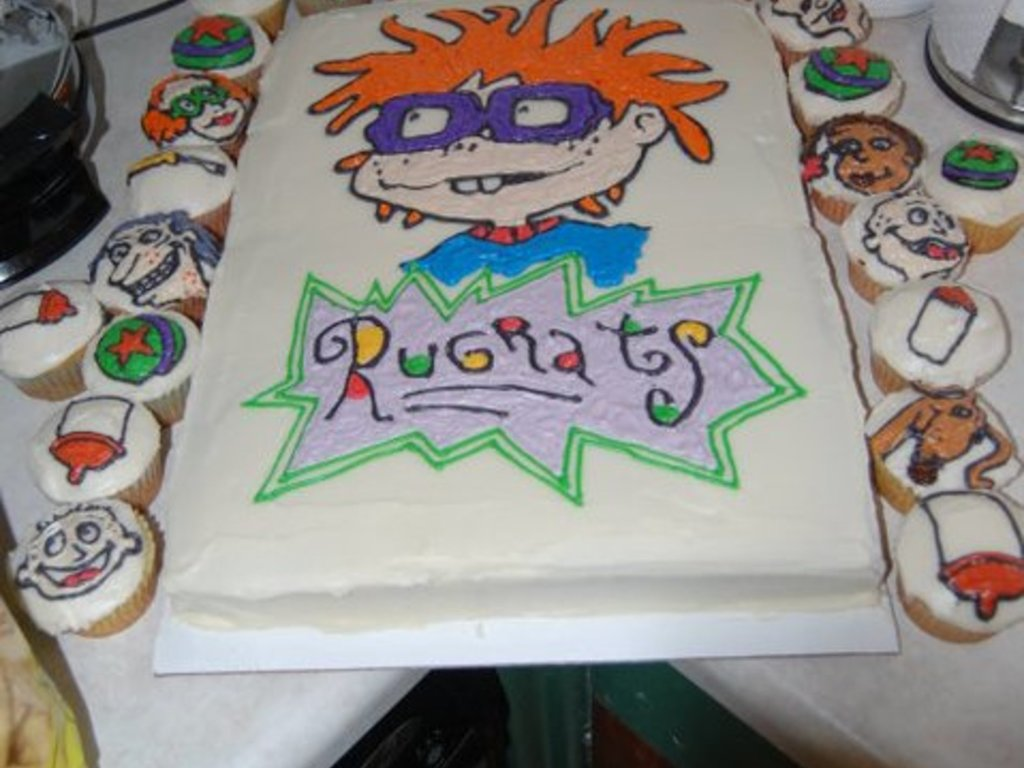 Rugrats Cake And Cupcakes Cakecentral