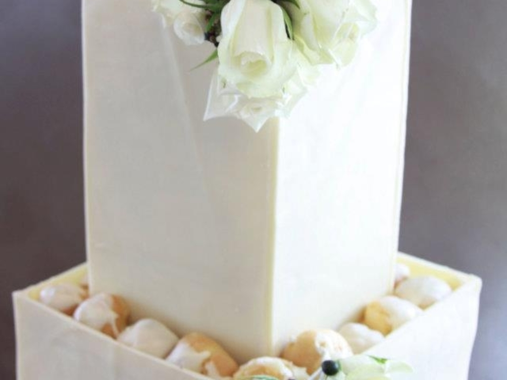 Profiterole Chocolate Box Wedding Cake - CakeCentral.com