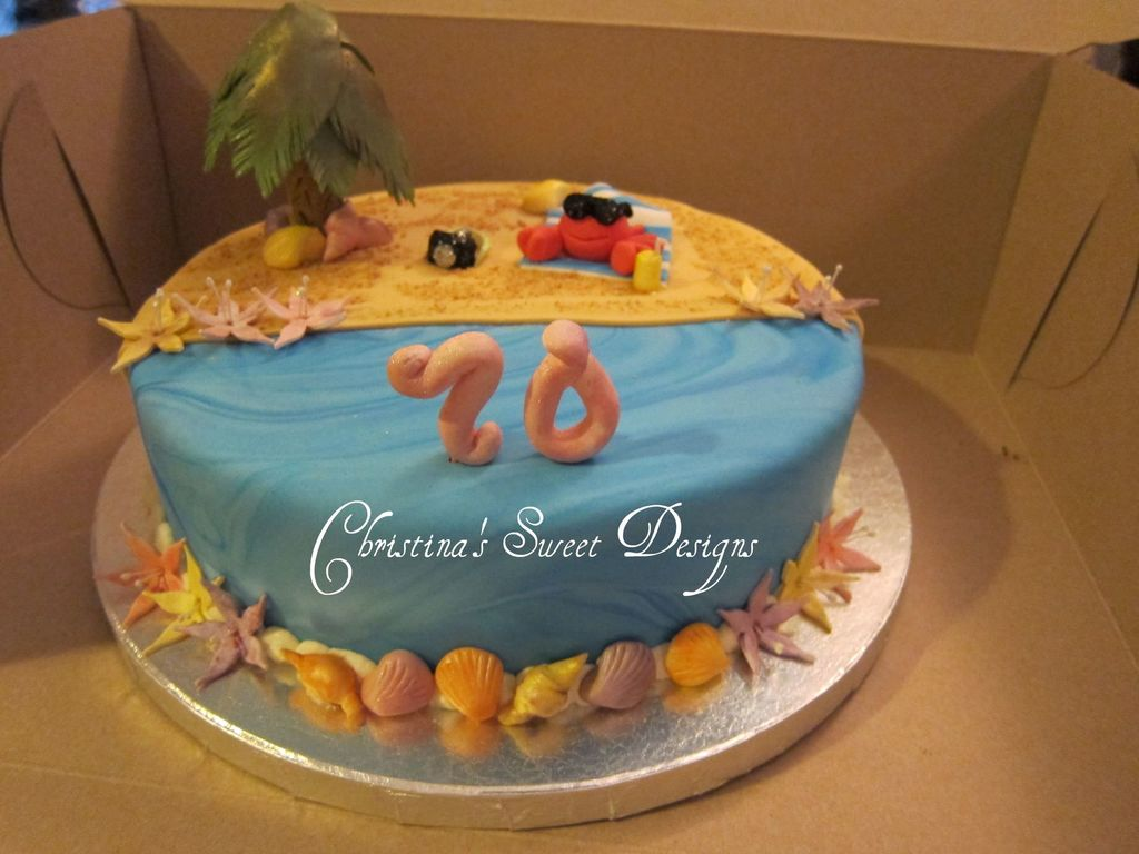 70 Year Old Elegant 21 Impressionnant Birthday 5 Amazingly Simple Cake Decorating Ideas Kitchen Conundrums With Source Beach CakeCentral Com