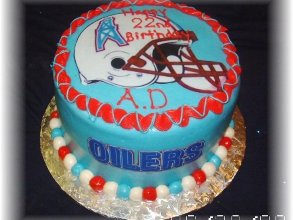 Surprising Houston Oilers Cake Cakecentral Com Personalised Birthday Cards Arneslily Jamesorg