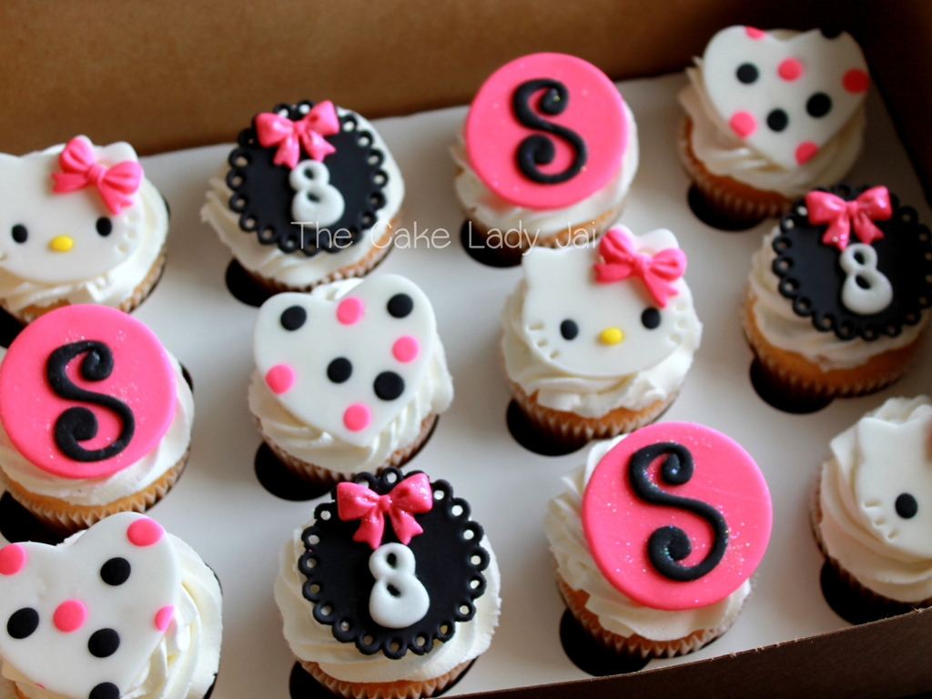 Hello Kitty Birthday Cupcakes CakeCentralcom