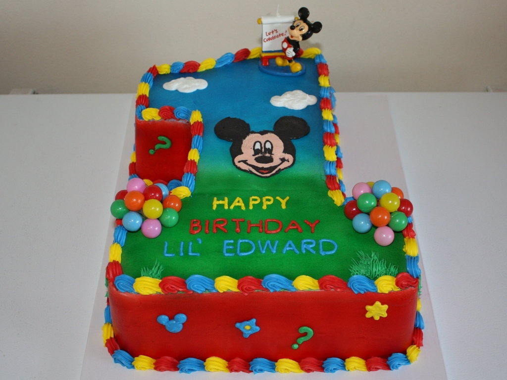 Fabulous Mickey Mouse Clubhouse 1St Birthday Cake Cakecentral Com Personalised Birthday Cards Veneteletsinfo