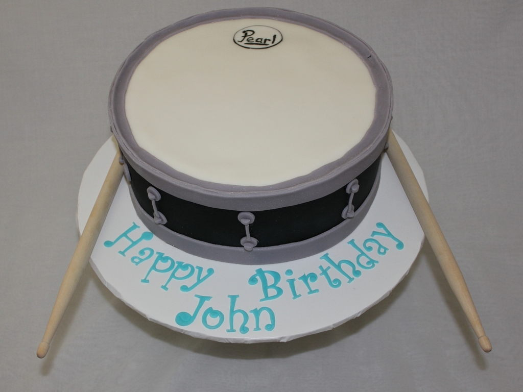 Magnificent Snare Drum Birthday Cake Cakecentral Com Personalised Birthday Cards Veneteletsinfo