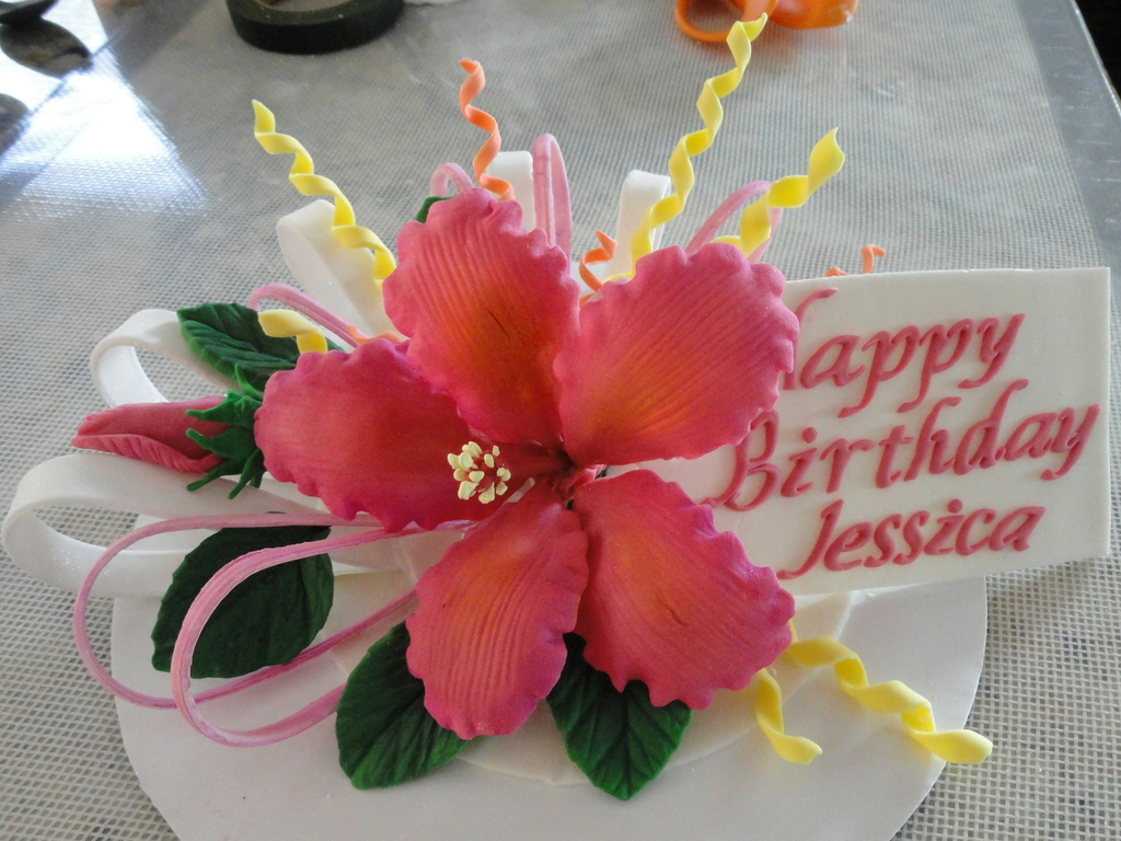 Hibiscus flower cake topper cakecentral izmirmasajfo