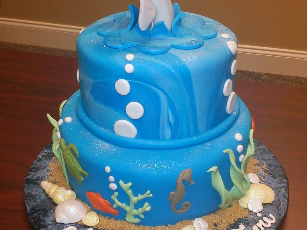 Dolphin Sea Birthday Cake Cakecentral