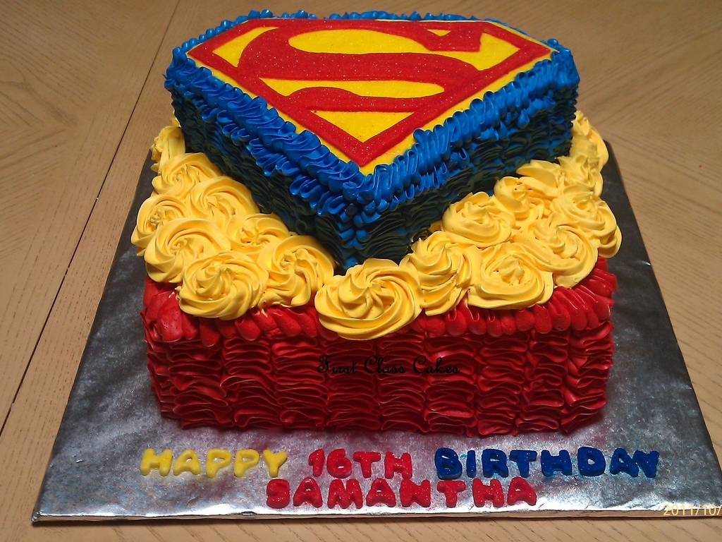 Prime My 1St Superman Cake Cakecentral Com Funny Birthday Cards Online Necthendildamsfinfo