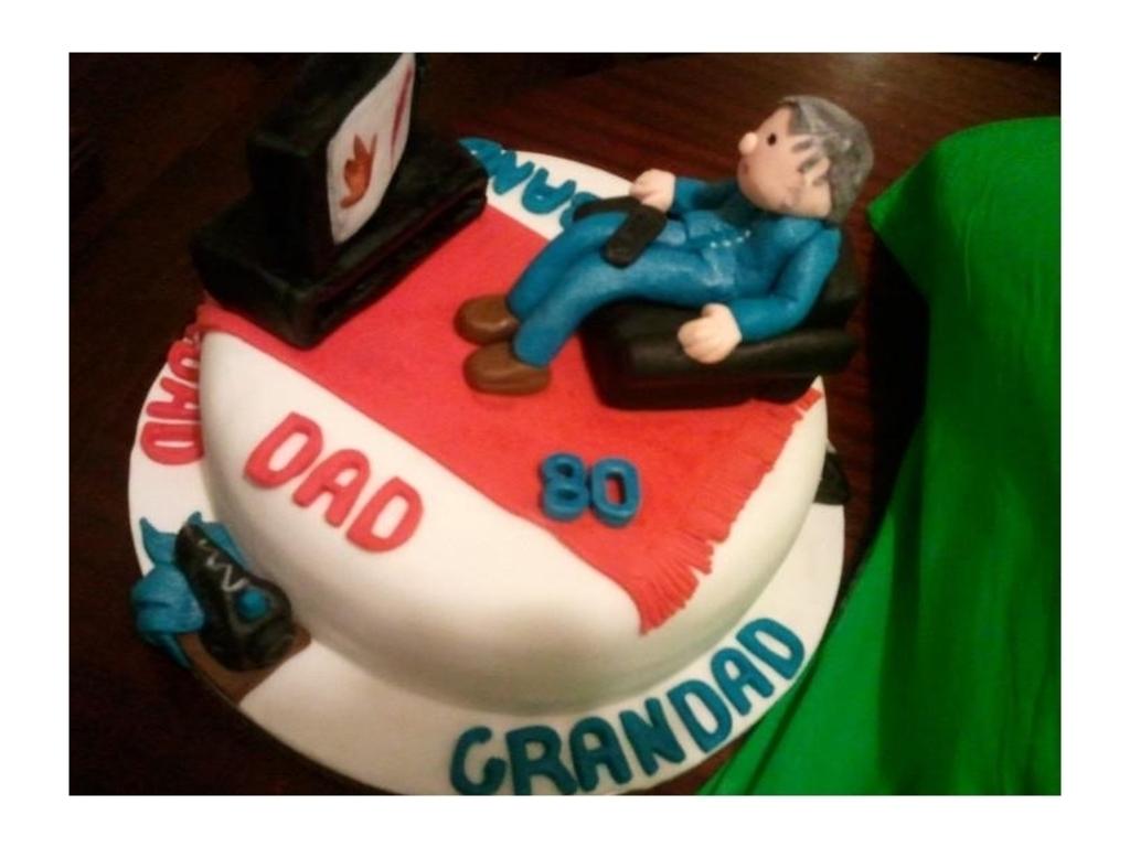 Superb Dads 80Th Birthday Cake Cakecentral Com Funny Birthday Cards Online Bapapcheapnameinfo