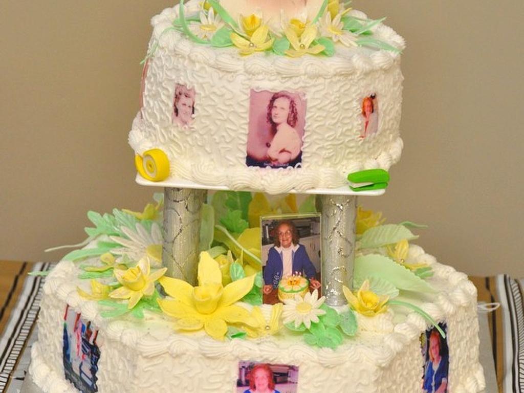 My Moms 80Th Birthday Cake