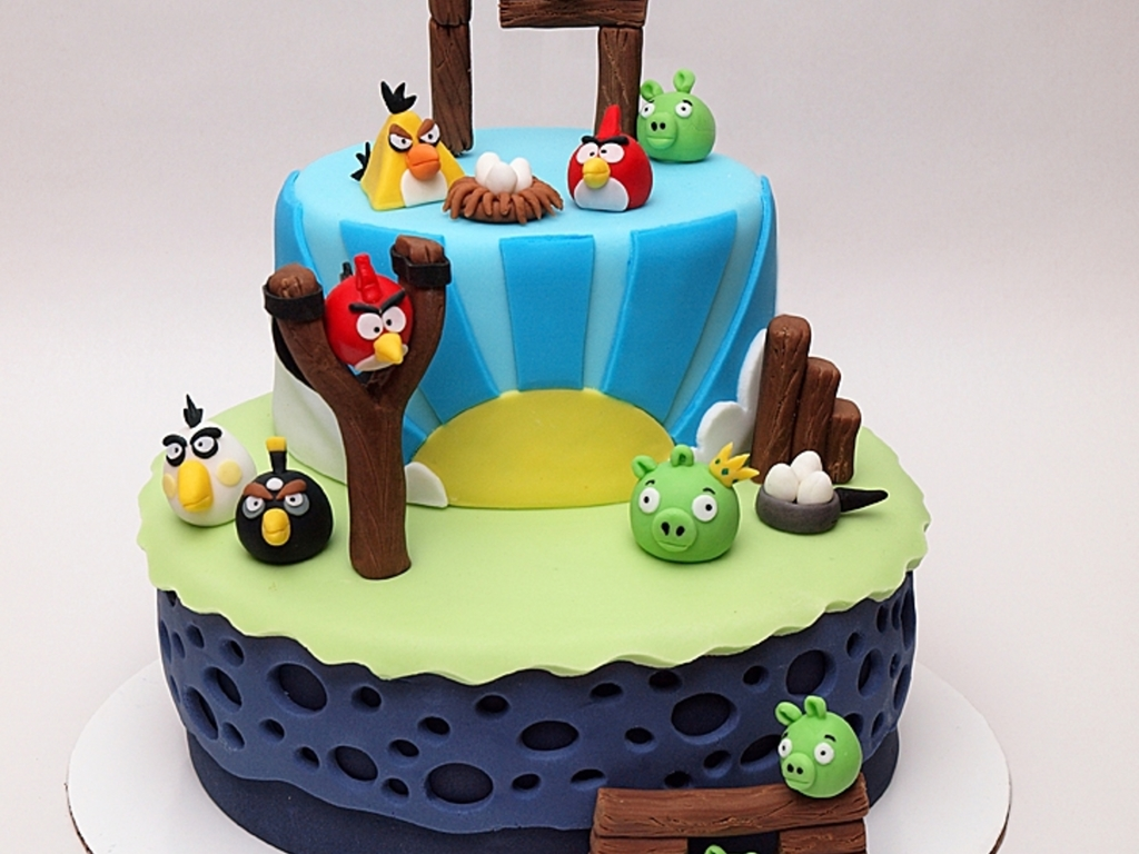 Angry Birds 14Th Birthday Cake