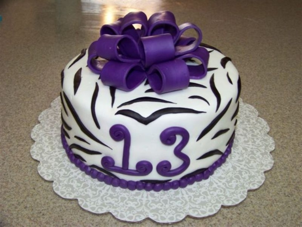 Zebra Print 13th Birthday Cakecentral