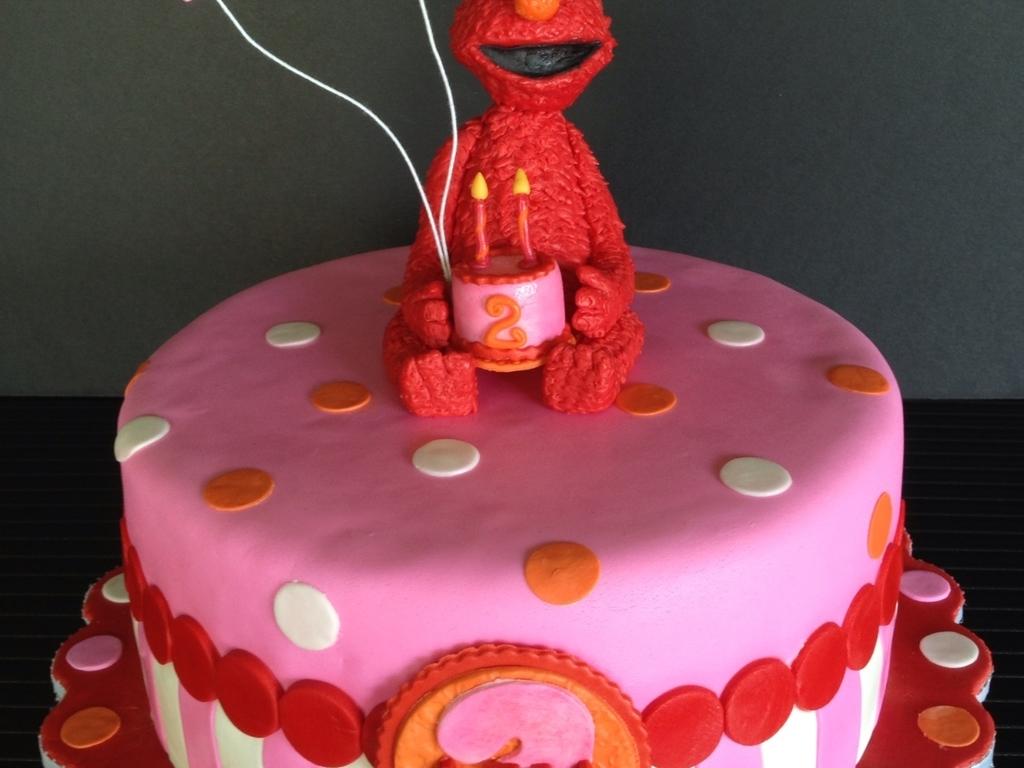 Elmo Birthday Cake For Ava