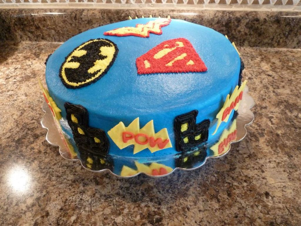 Batman Superman And Wonder Woman Cake CakeCentralcom