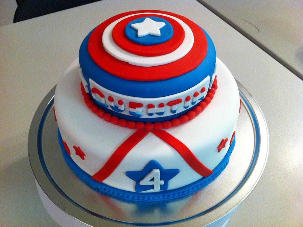 Captain America Birthday Cake CakeCentralcom
