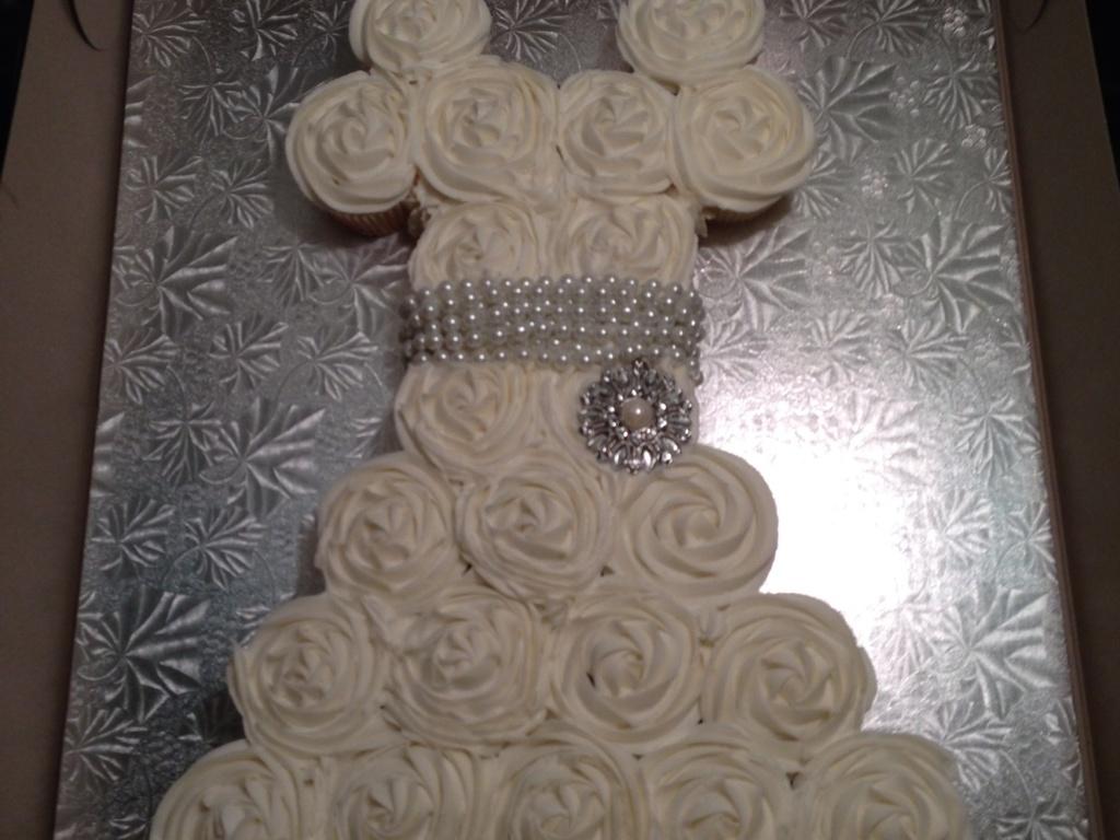Wedding Dress Cupcake Cake Bridal Shower