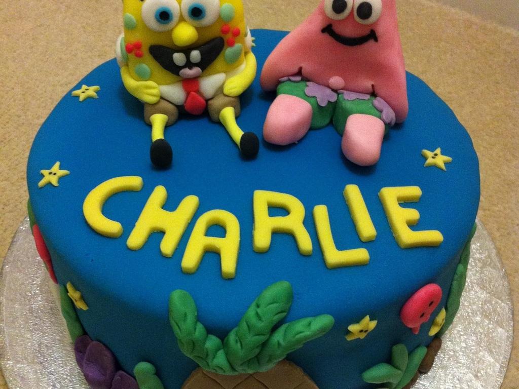 spongebob squarepants and patrick birthday cake cakecentral com