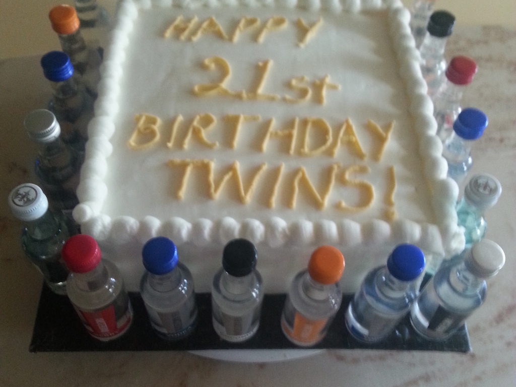 Twins 21St Birthday Cake