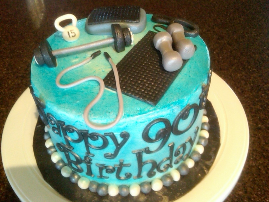 Exercise Themed Cake Cakecentral