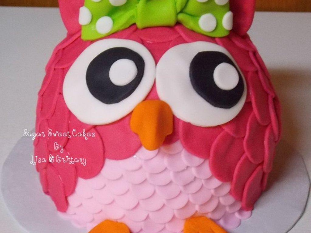 Owl Smash Cake CakeCentralcom