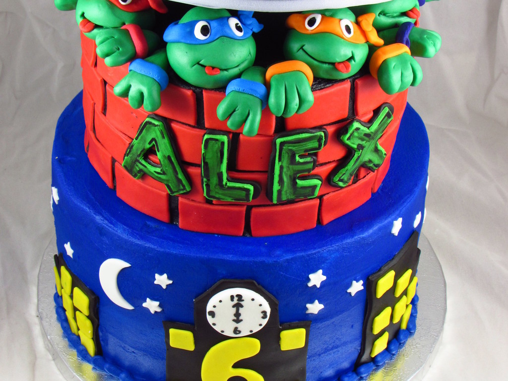Teenage Mutant Ninja Turtles Birthday Cake CakeCentralcom