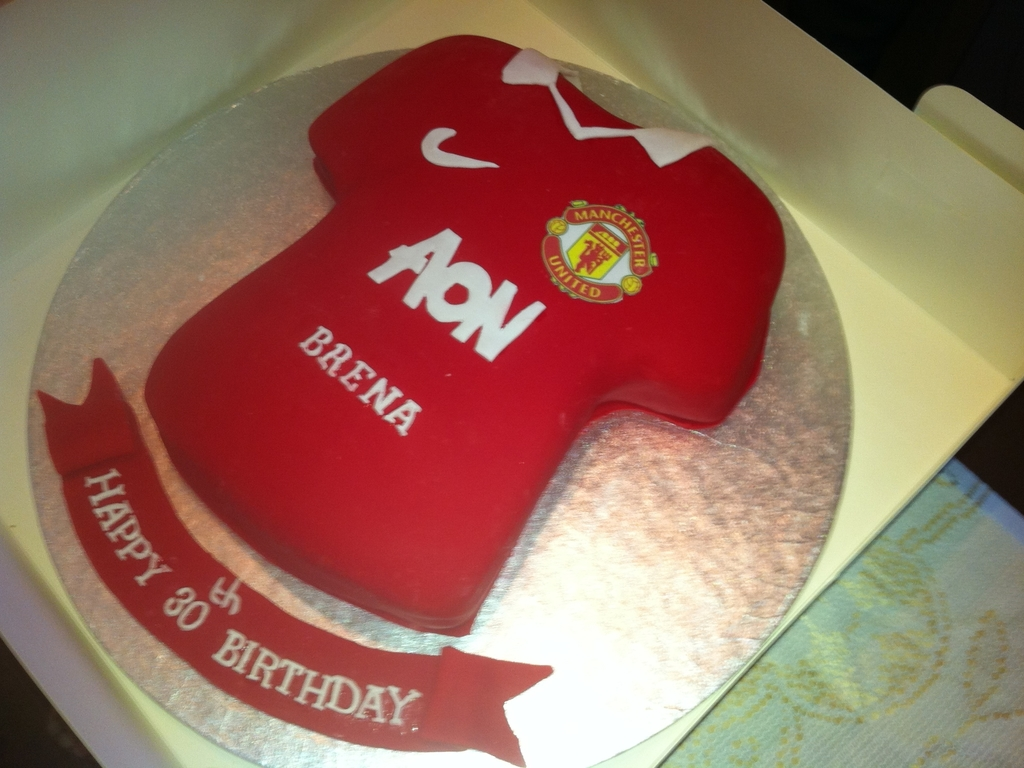 Manchester United Football Shirt Cake Cakecentral