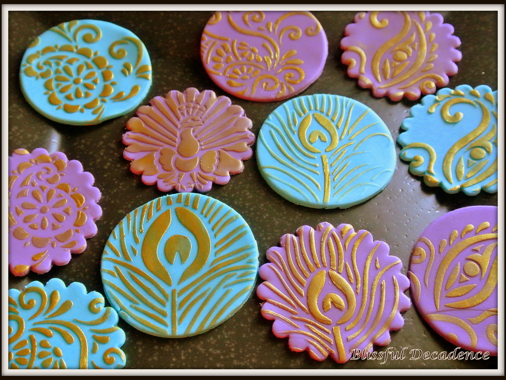 Henna And Pea Themed Cupcake Toppers Cakecentral Com