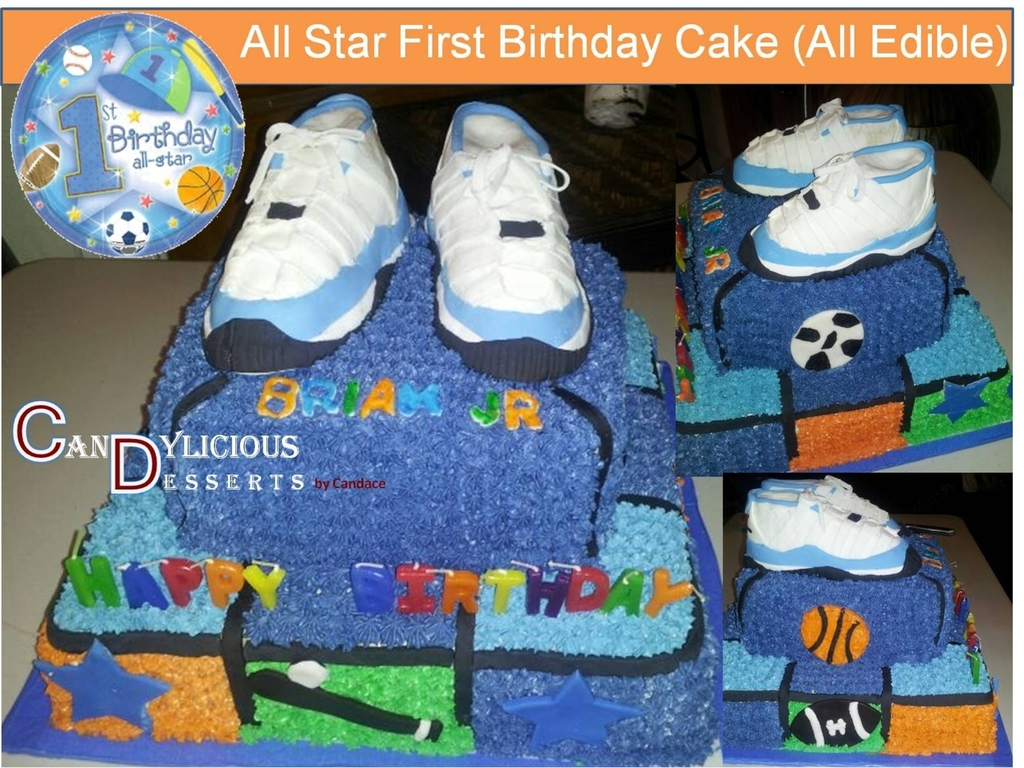 All Star First Birthday Cake CakeCentralcom - All star birthday cake
