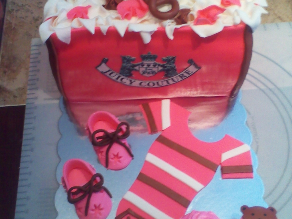Juicy Couture Baby Shower Gift Bag Cake - CakeCentral.com ab52176dda61