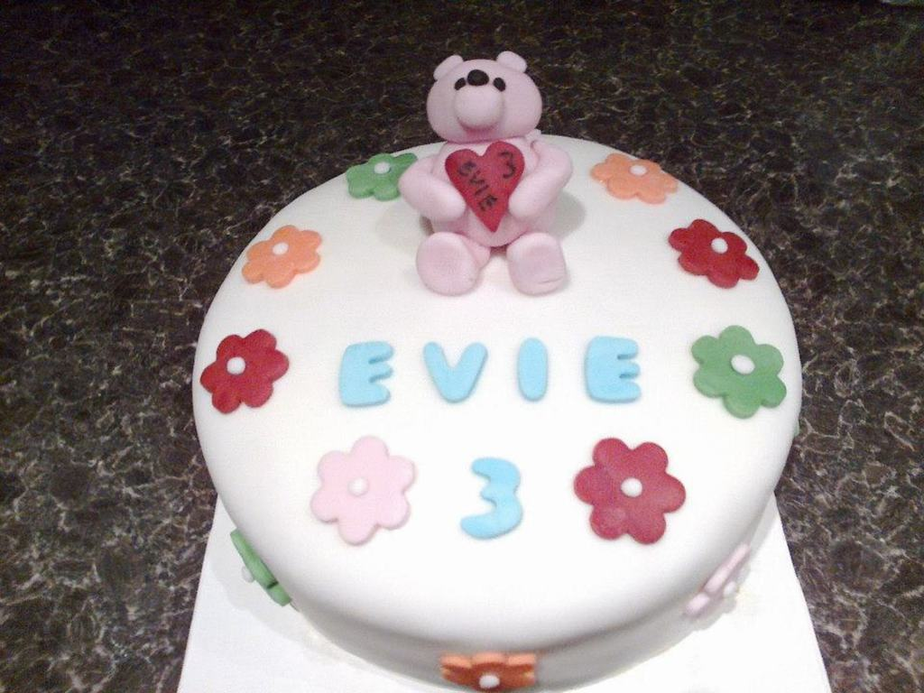 Wondrous Birthday Cake For 3 Year Old Girl Teddy Bear Isnt Perfect But Not Funny Birthday Cards Online Overcheapnameinfo