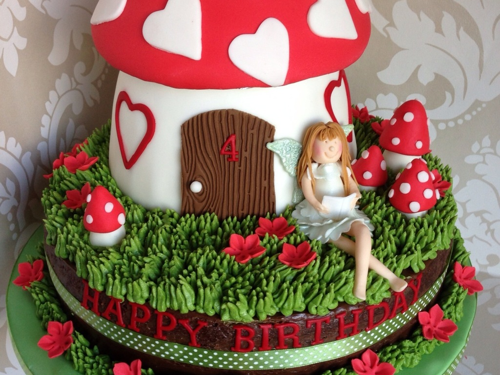 Fairy Toadstool Birthday Cake Cakecentral