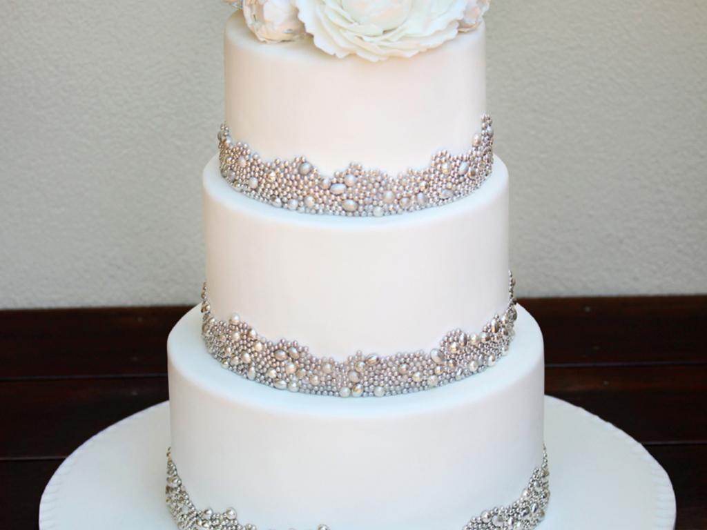 My Fourth Wedding Cake And One I Thoroughly Enjoyed Making The Bride ...