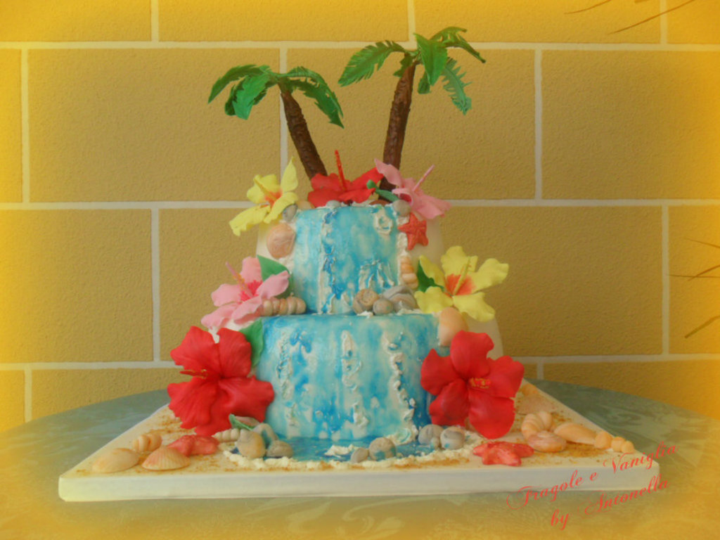 Hawaii Themed Birthday Cake - CakeCentral.com