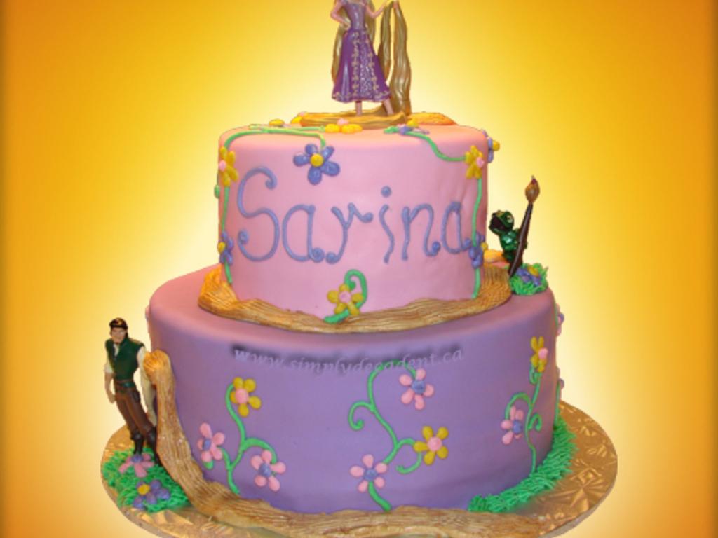 Marvelous Disney Tangled Rapunzel Birthday Cake Cakecentral Com Birthday Cards Printable Inklcafe Filternl
