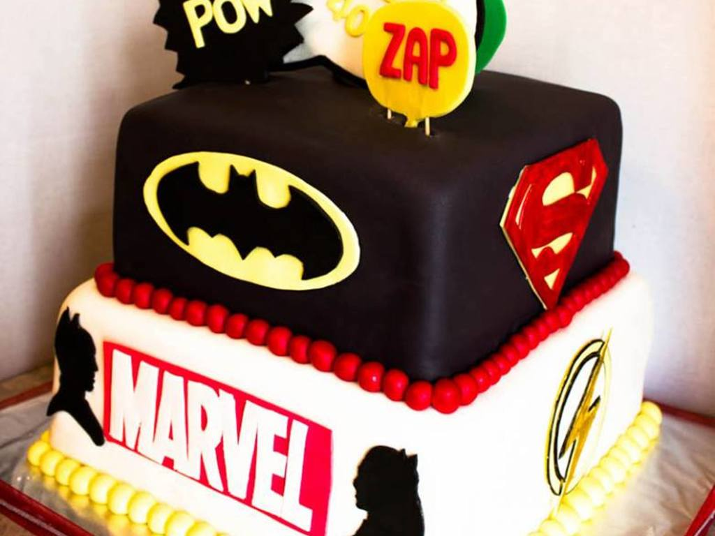 Dc Comics Marvel Superheroes Birthday Cake Cakecentral