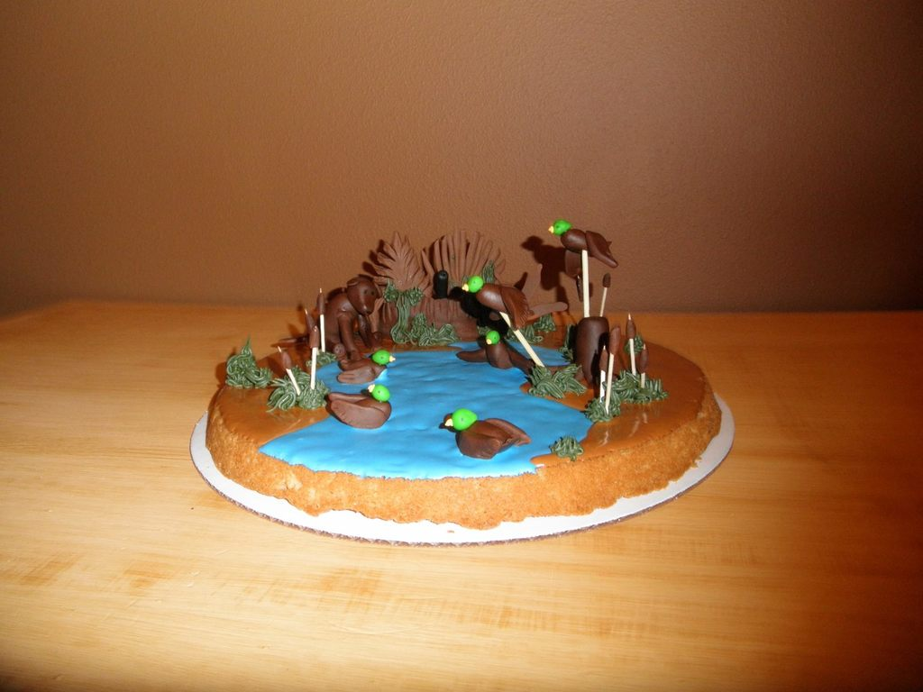Duck Hunting Cookie Cake CakeCentralcom