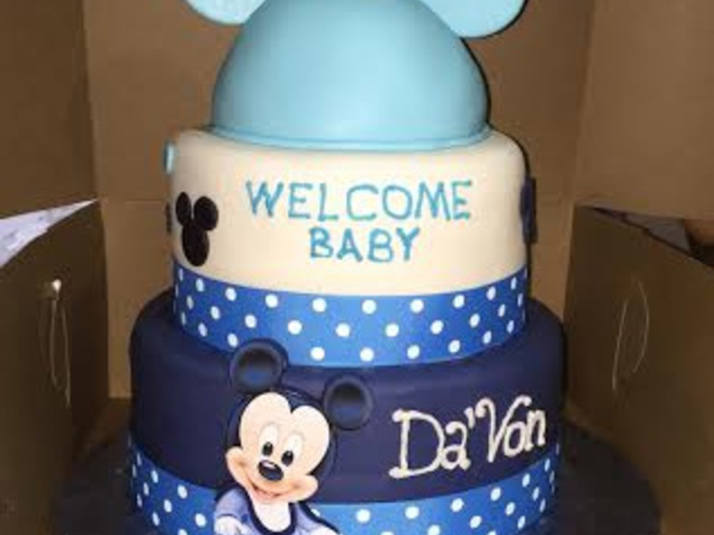 3 Tier Baby Mickey Mouse Baby Shower Cake Cakecentral