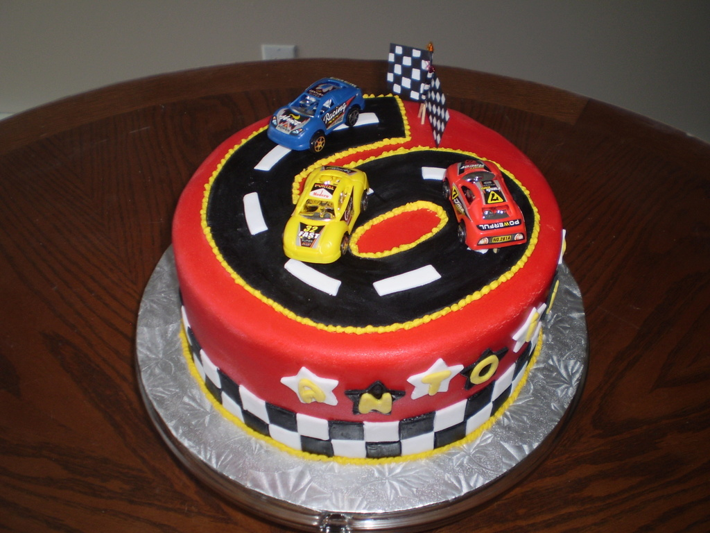 I made this race car cake for my nephew 6th birthday cakecentral baditri Choice Image