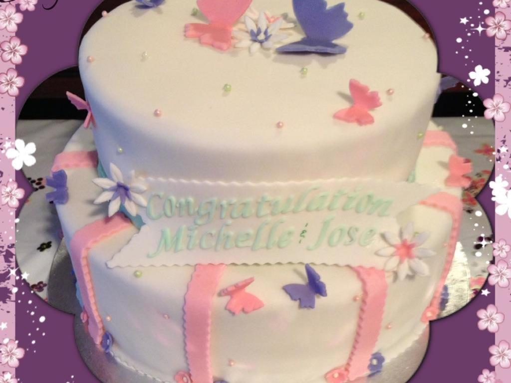 Butterflies Baby Shower Cake Dominican Cake W A Layer Of Strawberry