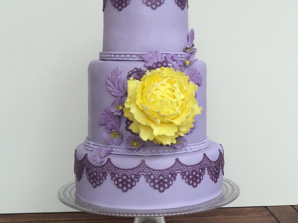 Purple And Yellow Cake Inspiration - CakeCentral.com