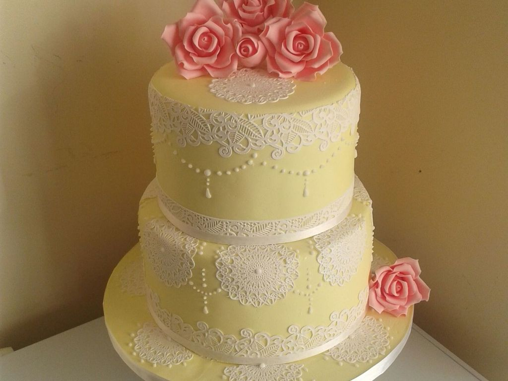 My 3Rd Wedding Cake Ive Ever Made Novice Baker Spring Colour Themes ...