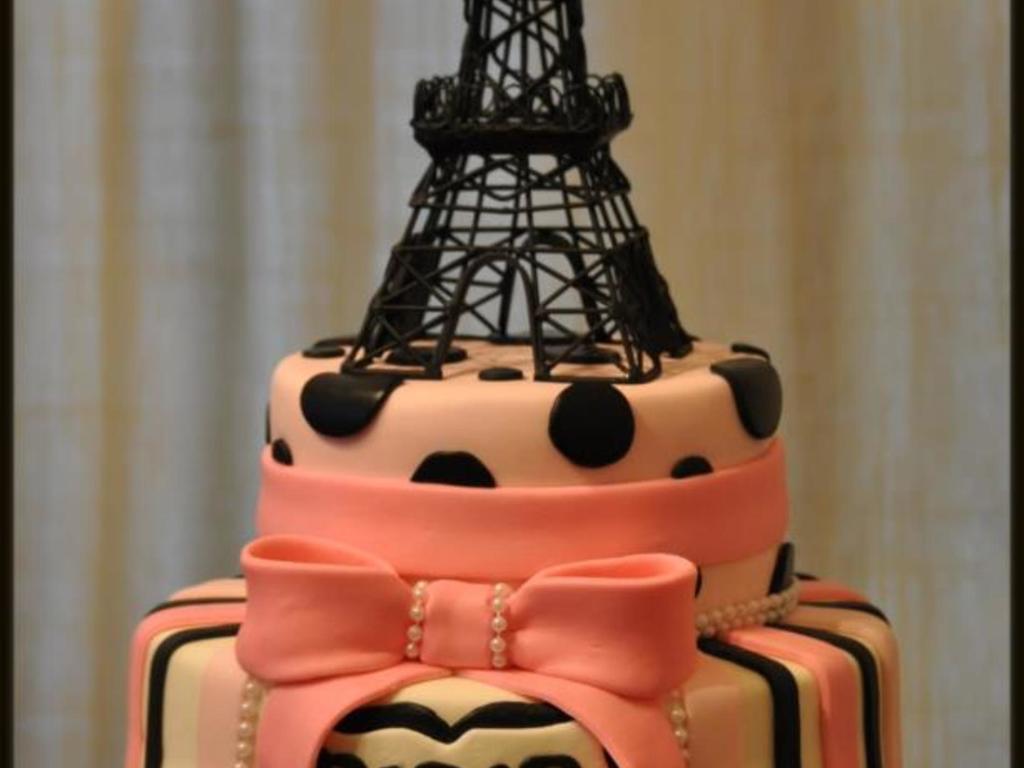 Excellent Paris Eiffel Tower Birthday Cake Cakecentral Com Funny Birthday Cards Online Aeocydamsfinfo