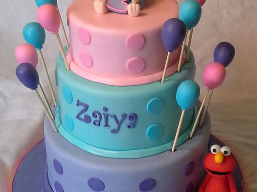Abby Cadabby Amp Elmo Birthday Cake Figurines Are Both Handcrafted From Gumpaste